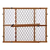 'Diamond Mesh Gate' by North States: Installs in seconds without damaging walls. Pressure mount. Fits openings 26.5' to 42' wide (23' tall, Natural wood)