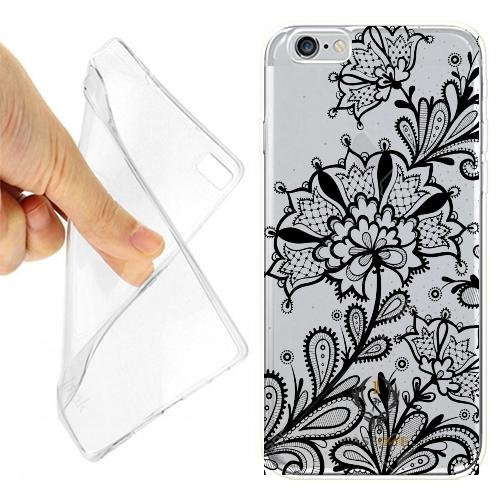 CUSTODIA COVER CASE FLOWER RICAMO MATRIMONIO PER IPHONE 6 PLUS OPACO