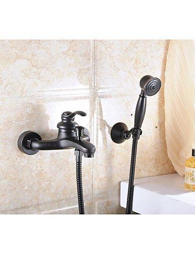 aquafaucet Öl eingerieben Bronze Wandhalterung Handheld Badewanne Dusche Wasserhahn Dusche Mischbatterie Set 1-Griff Wandhalterung