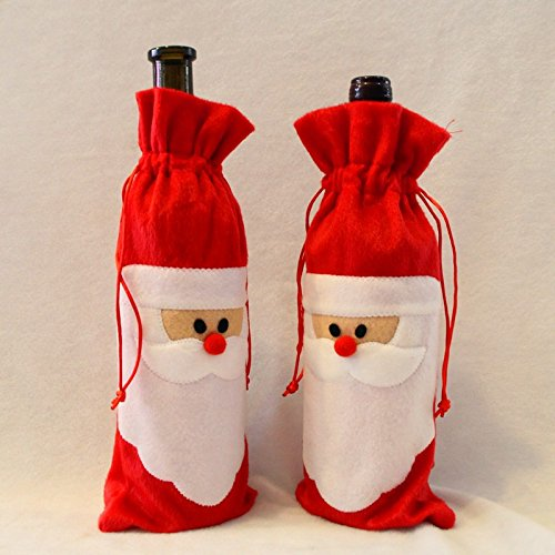 JD Million shop !!!Hot (Buy 1 free 1)1 pcs Red Wine Bottle Cover Bags Home Decoration Party Merry Santa Claus Christmas Xmas - Buy Dior