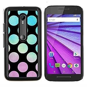 Stuss Case / Funda Carcasa protectora - Vibrante patrón Sunset trullo violeta - Motorola MOTO G3 ( 3nd Generation )