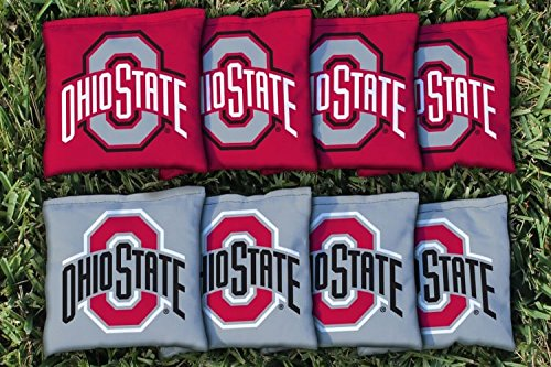8 Ohio State OSU Buckeyes Regulation Corn Filled Cornhole - Bags Bean Ohio State