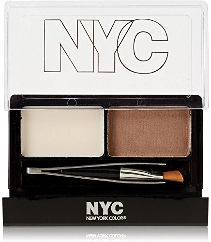 New York Color Browser Brush-On Brow Kit, Brunette [876] 1 ea (Pack of 6)