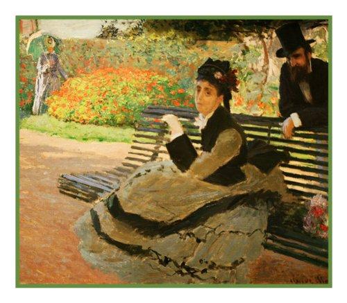 Orenco Originals Camille Monet Garden Bench Monet Counted Cross Stitch Pattern
