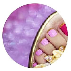 alfombrilla de ratón pedicura rosa lila. - ronda - 20cm