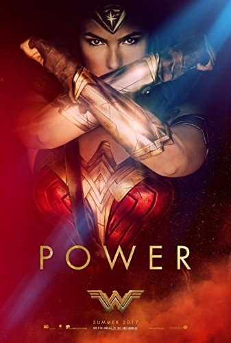 Amazon Com Wonder Woman 2017 Power Original Movie Poster 27x40 Dbl Sided Gal Gadot Everything Else