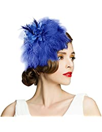 b18df798e69 Women s Hats Celebration Cocktail Party Wedding Feather Fascinators Hair  Clip