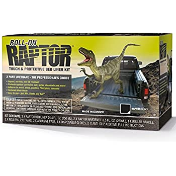 Raptor UP5010 Black 2-Liter Kit with Roller Coating Roll On, 1 Pack