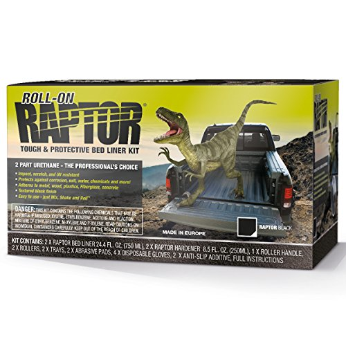 Raptor Black 2 L Coating Roll On, 1 Pack