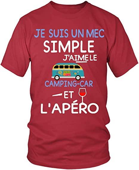 002 TEEZILY T-Shirt Homme Camping-Car Papy FR