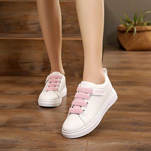 casual Wild estudiante rosa de de zapatos deporte un de de zapato tabla velcro GTVERNH plana Verano mujer Parte Zapatos zapatos solo inferior 17F86vWOA