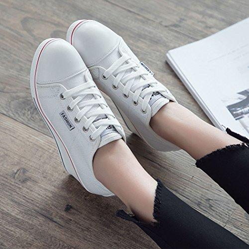 Mode Baskets Compensées en Toile Femme Chaussures Chaussure Sport Sneakers de Zetiy 56TwCxfqT