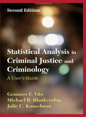 Statistical Analysis in Criminal Justice and Criminology:...
