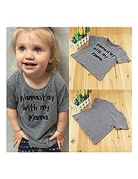 FidgetFidget Cotton Short Sleeve T-Shirt Tops Tees Clothes for Toddler Kids Baby Boy Girls