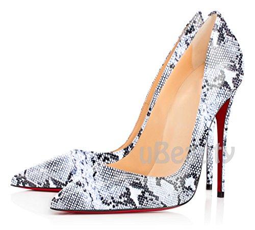 Sexy Femmes Grande Escarpins Talons Talon C Serpentin Taille Ubeauty Stilettos Chaussures Aiguille Serpentine Hauts fPBaxn
