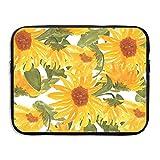 ManIron Waterproof Laptop Sleeve Case Sunflower Pattern Ultrabook Sleeve MacBook Bag Handbag Compatible