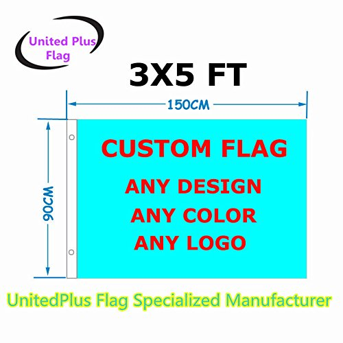 3'x5' Custom flag or Banner 3x5 Foot(150X90cm) - very clear Vivid Color 100D Polyester - Advertising Banner outdoor indoor - any color any design any size any pictures -Digital Print]()