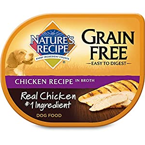 Nature's Recipe Grain Free Wet Dog Food Chicken Recipe in Broth, 2.75 oz, 12 ct