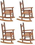 Cheap JACK-POST KN-10N Classic Child's Porch Rocker Natural Laquer Oak (4-Pack)