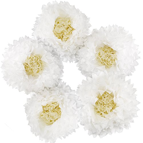 Hortense B. Hewitt 5 Count All About Flower Party Decor, White