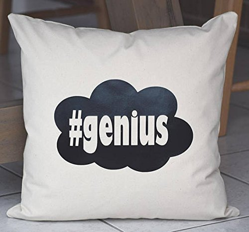 #genius Pillowcases / Handmade Pillow Cushion Custom Made Cover / Prosecco Princess Personalised Cushion Cover / Gift for Friend / 16x16
