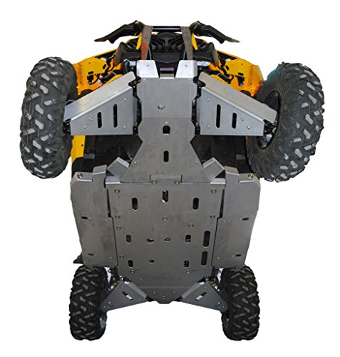 Can-Am Maverick, X-RS, X-RS Turbo, X-DS, X-DS Turbo, 9 Piece Aluminum Full frame skid plate set, front & rear A-Arm/CV Boot Guards, Lateral Rock Sliders by Ricochet