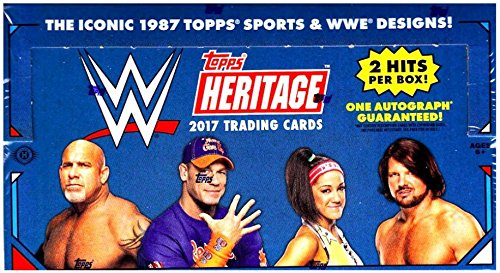 2017 Topps WWE Heritage Trading Cards HOBBY Box - 24 packs