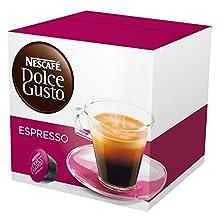 NESCAFÉ Dolce Gusto Espresso 16 Capsules (Pack of 3, Total 48 Capsules, 48 Cups)