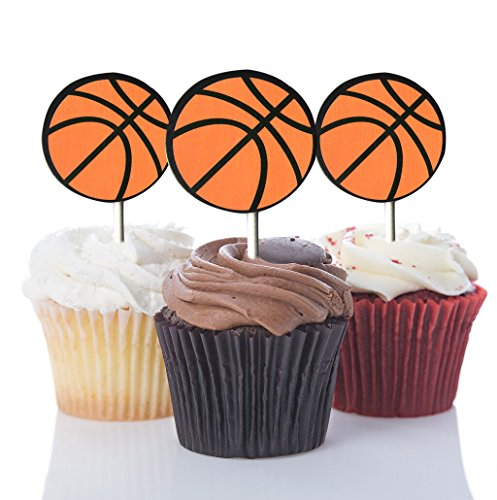 Basketball Cupcake Toppers,Basketball Party Picks Party Deco