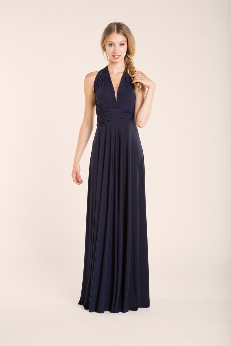 Amazon.com: Bridesmaid dress, navy blue bridesmaid dress, infinity navy blue dress, infinity dress, navy blue infinity dress, navy blue bridesmaid dress: ...