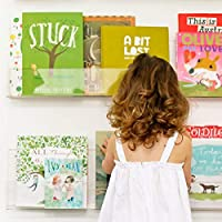 "Combination of Life 24""x3.5""x3.5"" Invisible Floating Wall Shelf Clear Acrylic Photo Ledge Display Kids Bookshelf Nail…"