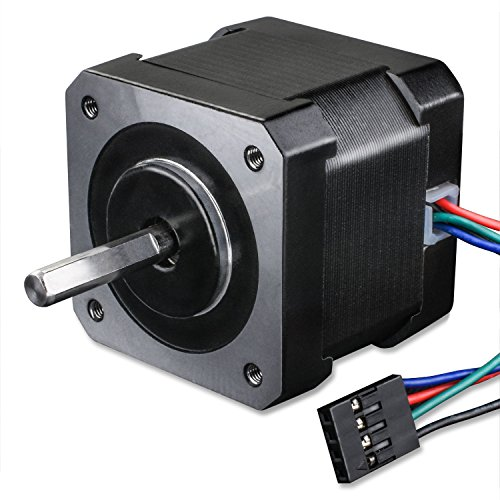 Stepper Motor Longruner Nema 17 Bipolar 38mm 64oz.in(45Ncm) 2A 4 Lead 3D Printer Hobby CNC w/1m Cable & Connector by Longruner