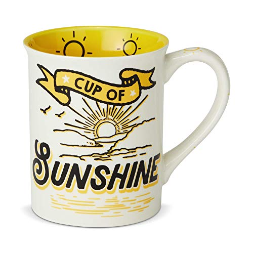 """Enesco 6002464 Our Name is Mud """"Cup of Sunshine, 16 oz. Stoneware Mug 16 Ounces Yellow"""