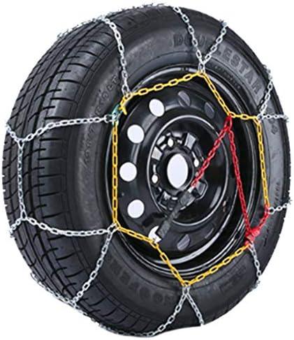 車のホイールタイヤスノーチェーン スノーチェーン205 / 55R16、タイヤアンチスキッドスチールチェーン雪の泥カーセキュリティタイヤクリップオンチェーン車自動車トラックSUVのために タイヤチェーン 金属製 車の滑り止め緊急スノータイヤチェーン
