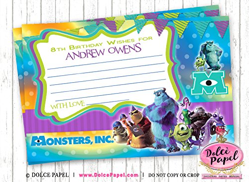 Amazon 10 Monsters Inc Purple And Teal Mike And Sully Birthday
