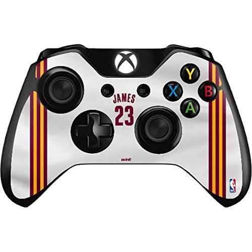 NBA Cleveland Cavaliers Xbox One Controller Skin - LeBron James #23 Cleveland Cavaliers Home Jersey Vinyl Decal Skin For Your Xbox One Controller by Skinit