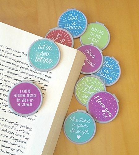 Inspirational Bookmarks (Set of 10) Set #2 Silver/Pastel bookmarks