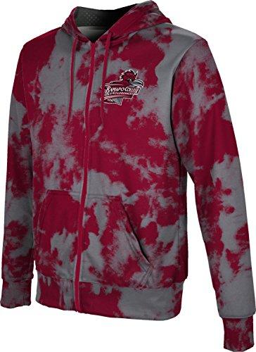 ProSphere Ramapo College of New Jersey Men's Zipper Hoodie, School Spirit Sweatshirt (Grunge) FCF82 Red and Gray