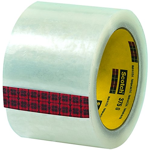 3M 375 Carton Sealing Tape, 3'' x 55 yd. by Ship Now Supply