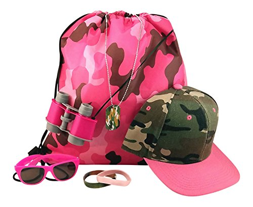 Kids Pink Camouflage Toy Bundle