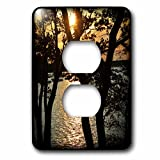 3dRose WhiteOaks Photography and Artwork - Waterscape - The Sun is Going Down is a photo of at a park in Salem MA - Light Switch Covers - 2 plug outlet cover (lsp_265369_6)