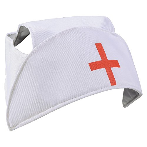 [Nurse Hat - Nurse Caps With Red Cross Costume Accessory by Funny Party Hats] (Funny Uniform Costumes)