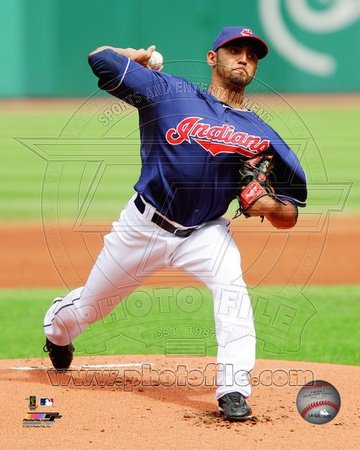 (8x10) Cleveland Indians Danny Salazar 2013 Action Glossy Photo Photograph