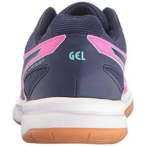 ASICS Women's Gel-Upcourt Volleyball Shoe, Pink Glow/Indigo Blue/Aqua Splash, 11.5 M US