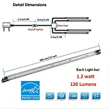 Set of 4 LED Light Strip Bar - Cool White Kitchen