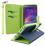 Galaxy Note 5 Case - Blue, MPERO FLEX FLIP 2 Series Premium PU Leather Wallet [3 Pockets] Inner Flexible TPU Slim Fit Case for Samsung Galaxy Note 5