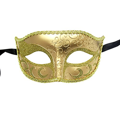 [Xvevina Sparkle Venetian Glitter Masquerade Party Costume Mask For Women Men] (Venice Carnival Costumes Ideas)