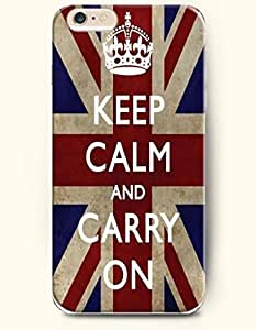 iPhone 6 Case,OOFIT iPhone 6 (4.7) Hard Case **NEW** Case with the Design of keep calm and carry on - Case for Apple iPhone iPhone 6 (4.7) (2014) Verizon, AT&T Sprint, T-mobile hjbrhga1544
