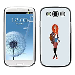 Be Good Phone Accessory // Dura Cáscara cubierta Protectora Caso Carcasa Funda de Protección para Samsung Galaxy S3 I9300 // redhead smart hipster feminist education