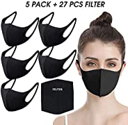 Face Masks by undwider, Fashion Protective Mouth Mask, Unisex Cotton Dust Mask, Reusable Washable Mask for Cycling Camping T